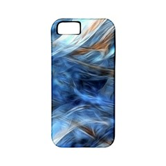 Blue Colorful Abstract Design  Apple Iphone 5 Classic Hardshell Case (pc+silicone) by designworld65