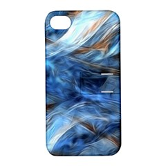 Blue Colorful Abstract Design  Apple Iphone 4/4s Hardshell Case With Stand by designworld65