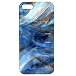 Blue Colorful Abstract Design  Apple iPhone 5 Hardshell Case with Stand