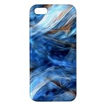 Blue Colorful Abstract Design  Apple iPhone 5 Premium Hardshell Case
