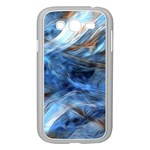 Blue Colorful Abstract Design  Samsung Galaxy Grand DUOS I9082 Case (White) Front