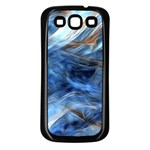 Blue Colorful Abstract Design  Samsung Galaxy S3 Back Case (Black) Front
