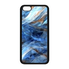 Blue Colorful Abstract Design  Apple Iphone 5c Seamless Case (black) by designworld65