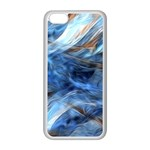 Blue Colorful Abstract Design  Apple iPhone 5C Seamless Case (White) Front