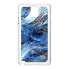 Blue Colorful Abstract Design  Samsung Galaxy Note 3 N9005 Case (white) by designworld65