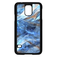 Blue Colorful Abstract Design  Samsung Galaxy S5 Case (black) by designworld65