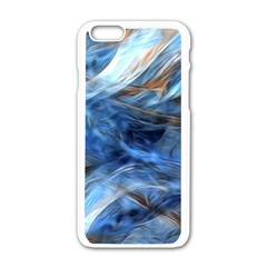 Blue Colorful Abstract Design  Apple Iphone 6/6s White Enamel Case by designworld65