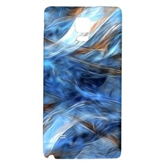 Blue Colorful Abstract Design  Galaxy Note 4 Back Case by designworld65