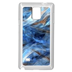 Blue Colorful Abstract Design  Samsung Galaxy Note 4 Case (white) by designworld65