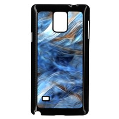 Blue Colorful Abstract Design  Samsung Galaxy Note 4 Case (black) by designworld65