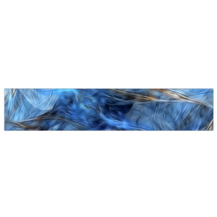 Blue Colorful Abstract Design  Flano Scarf (Small)