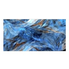 Blue Colorful Abstract Design  Satin Shawl by designworld65