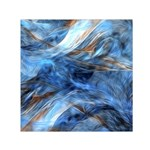 Blue Colorful Abstract Design  Small Satin Scarf (Square) Front