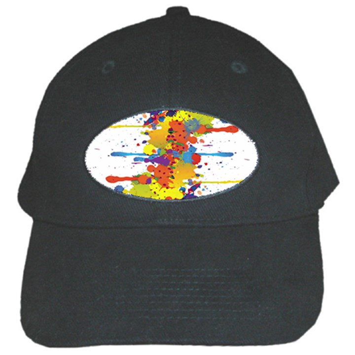 Crazy Multicolored Double Running Splashes Black Cap