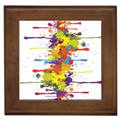 Crazy Multicolored Double Running Splashes Framed Tiles by EDDArt