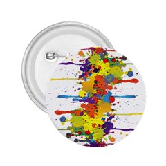 Crazy Multicolored Double Running Splashes 2 25  Buttons by EDDArt