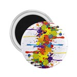 Crazy Multicolored Double Running Splashes 2.25  Magnets