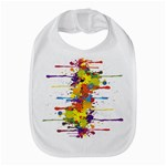 Crazy Multicolored Double Running Splashes Bib Front