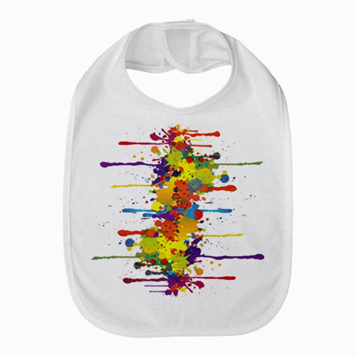 Crazy Multicolored Double Running Splashes Bib