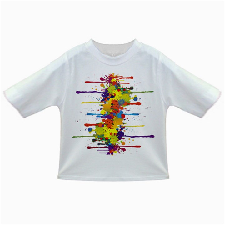 Crazy Multicolored Double Running Splashes Infant/Toddler T-Shirts