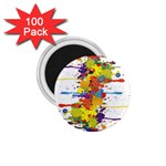 Crazy Multicolored Double Running Splashes 1.75  Magnets (100 pack)
