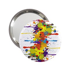 Crazy Multicolored Double Running Splashes 2 25  Handbag Mirrors by EDDArt