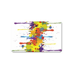 Crazy Multicolored Double Running Splashes Magnet (name Card)