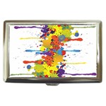 Crazy Multicolored Double Running Splashes Cigarette Money Cases Front