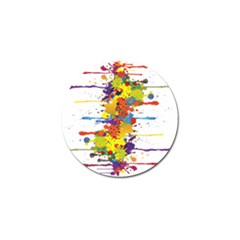 Crazy Multicolored Double Running Splashes Golf Ball Marker by EDDArt