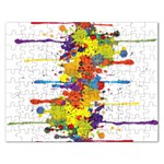 Crazy Multicolored Double Running Splashes Rectangular Jigsaw Puzzl Front