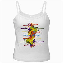 Crazy Multicolored Double Running Splashes Ladies Camisoles