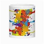 Crazy Multicolored Double Running Splashes Morph Mugs Center