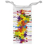 Crazy Multicolored Double Running Splashes Jewelry Bags Front