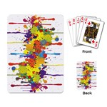 Crazy Multicolored Double Running Splashes Playing Card Back