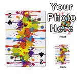 Crazy Multicolored Double Running Splashes Playing Cards 54 Designs