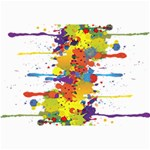 Crazy Multicolored Double Running Splashes Collage Prints 18 x12 Print - 5
