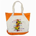 Crazy Multicolored Double Running Splashes Accent Tote Bag Front