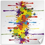 Crazy Multicolored Double Running Splashes Canvas 16  x 16   16 x16 Canvas - 1