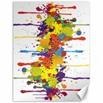 Crazy Multicolored Double Running Splashes Canvas 18  x 24   24 x18 Canvas - 1