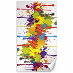Crazy Multicolored Double Running Splashes Canvas 40  x 72