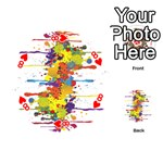 Crazy Multicolored Double Running Splashes Playing Cards 54 (Round)  Front - Heart8