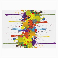 Crazy Multicolored Double Running Splashes Large Glasses Cloth