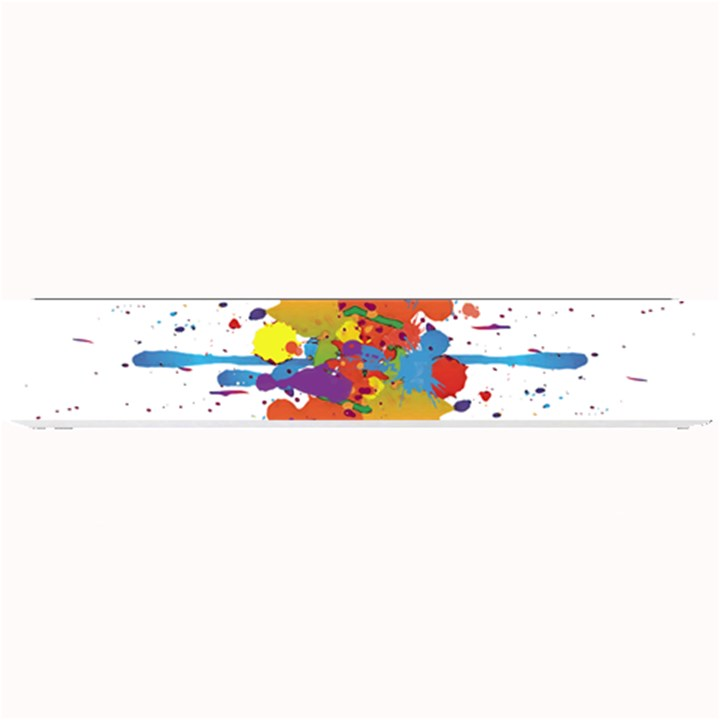 Crazy Multicolored Double Running Splashes Small Bar Mats