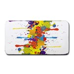Crazy Multicolored Double Running Splashes Medium Bar Mats