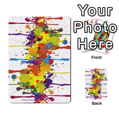 Crazy Multicolored Double Running Splashes Multi Purpose Cards (rectangle)