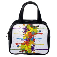Crazy Multicolored Double Running Splashes Classic Handbags (one Side)