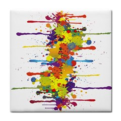 Crazy Multicolored Double Running Splashes Face Towel by EDDArt