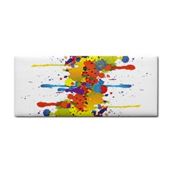 Crazy Multicolored Double Running Splashes Hand Towel