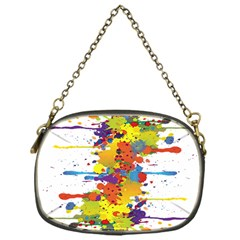 Crazy Multicolored Double Running Splashes Chain Purses (one Side)  by EDDArt