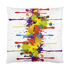 Crazy Multicolored Double Running Splashes Standard Cushion Case (two Sides) by EDDArt